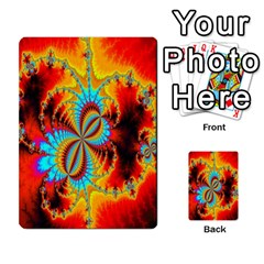 Crazy Mandelbrot Fractal Red Yellow Turquoise Multi Purpose Cards (rectangle)  by EDDArt