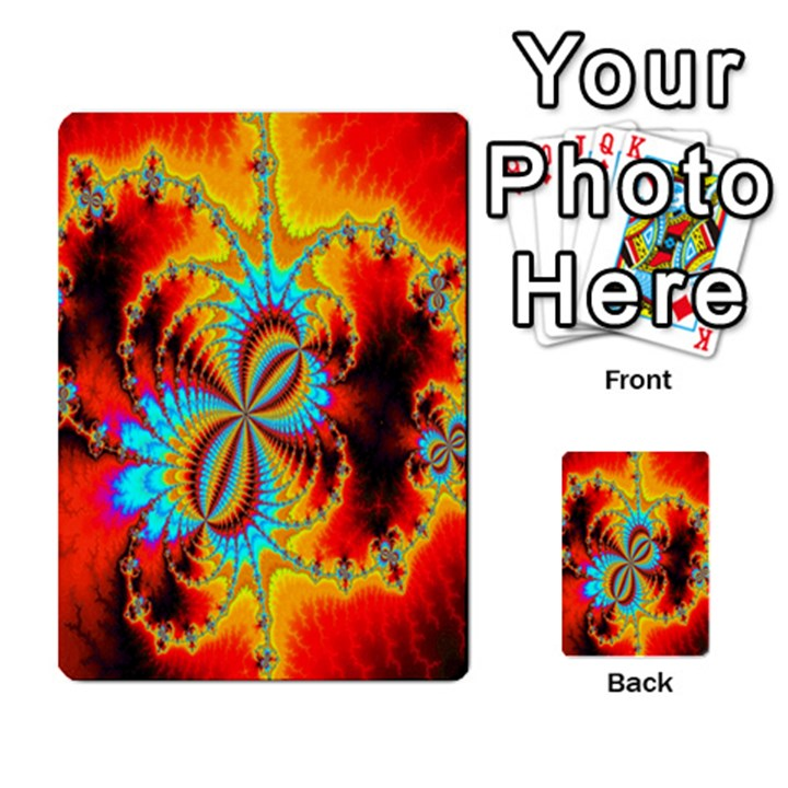 Crazy Mandelbrot Fractal Red Yellow Turquoise Multi-purpose Cards (Rectangle)