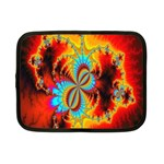 Crazy Mandelbrot Fractal Red Yellow Turquoise Netbook Case (Small)  Front