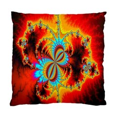 Crazy Mandelbrot Fractal Red Yellow Turquoise Standard Cushion Case (one Side) by EDDArt