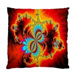 Crazy Mandelbrot Fractal Red Yellow Turquoise Standard Cushion Case (Two Sides) Back