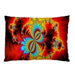 Crazy Mandelbrot Fractal Red Yellow Turquoise Pillow Case 26.62 x18.9 Pillow Case