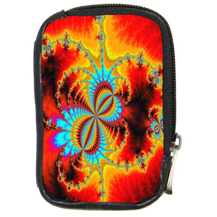 Crazy Mandelbrot Fractal Red Yellow Turquoise Compact Camera Cases