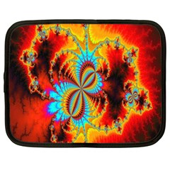 Crazy Mandelbrot Fractal Red Yellow Turquoise Netbook Case (XXL)