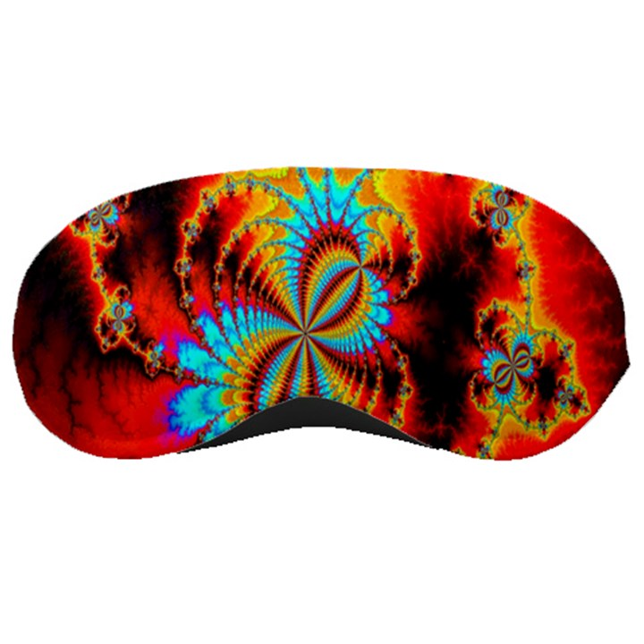 Crazy Mandelbrot Fractal Red Yellow Turquoise Sleeping Masks