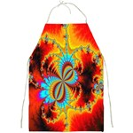 Crazy Mandelbrot Fractal Red Yellow Turquoise Full Print Aprons Front