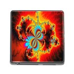 Crazy Mandelbrot Fractal Red Yellow Turquoise Memory Card Reader (Square) Front