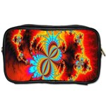 Crazy Mandelbrot Fractal Red Yellow Turquoise Toiletries Bags 2-Side Front