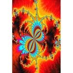Crazy Mandelbrot Fractal Red Yellow Turquoise 5.5  x 8.5  Notebooks Front Cover Inside