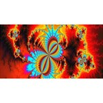 Crazy Mandelbrot Fractal Red Yellow Turquoise Magic Photo Cubes Long Side 3