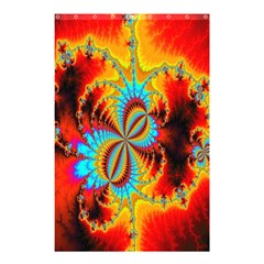 Crazy Mandelbrot Fractal Red Yellow Turquoise Shower Curtain 48  X 72  (small)  by EDDArt