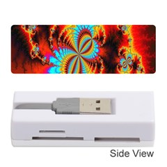 Crazy Mandelbrot Fractal Red Yellow Turquoise Memory Card Reader (Stick)
