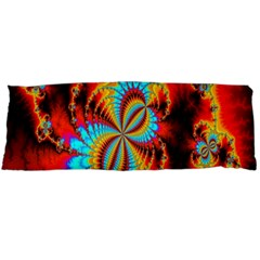 Crazy Mandelbrot Fractal Red Yellow Turquoise Body Pillow Case Dakimakura (two Sides) by EDDArt