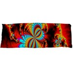 Crazy Mandelbrot Fractal Red Yellow Turquoise Body Pillow Case Dakimakura (Two Sides) Front