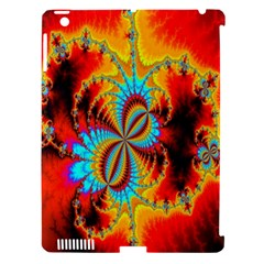 Crazy Mandelbrot Fractal Red Yellow Turquoise Apple Ipad 3/4 Hardshell Case (compatible With Smart Cover) by EDDArt