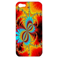 Crazy Mandelbrot Fractal Red Yellow Turquoise Apple Iphone 5 Hardshell Case by EDDArt