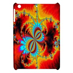 Crazy Mandelbrot Fractal Red Yellow Turquoise Apple Ipad Mini Hardshell Case by EDDArt