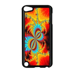Crazy Mandelbrot Fractal Red Yellow Turquoise Apple Ipod Touch 5 Case (black) by EDDArt