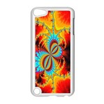 Crazy Mandelbrot Fractal Red Yellow Turquoise Apple iPod Touch 5 Case (White) Front
