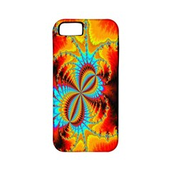 Crazy Mandelbrot Fractal Red Yellow Turquoise Apple iPhone 5 Classic Hardshell Case (PC+Silicone)