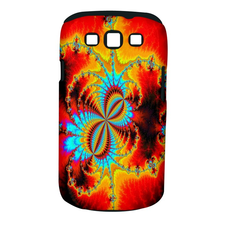 Crazy Mandelbrot Fractal Red Yellow Turquoise Samsung Galaxy S III Classic Hardshell Case (PC+Silicone)