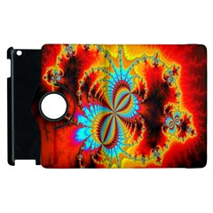 Crazy Mandelbrot Fractal Red Yellow Turquoise Apple Ipad 3/4 Flip 360 Case