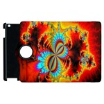 Crazy Mandelbrot Fractal Red Yellow Turquoise Apple iPad 3/4 Flip 360 Case Front