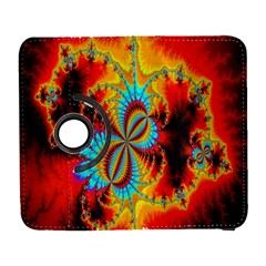 Crazy Mandelbrot Fractal Red Yellow Turquoise Samsung Galaxy S  Iii Flip 360 Case by EDDArt