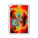 Crazy Mandelbrot Fractal Red Yellow Turquoise iPad Mini 2 Enamel Coated Cases Front