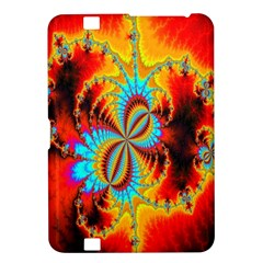 Crazy Mandelbrot Fractal Red Yellow Turquoise Kindle Fire Hd 8 9  by EDDArt