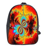 Crazy Mandelbrot Fractal Red Yellow Turquoise School Bags (XL)  Front