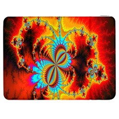 Crazy Mandelbrot Fractal Red Yellow Turquoise Samsung Galaxy Tab 7  P1000 Flip Case by EDDArt