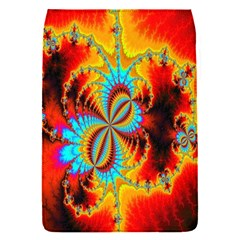 Crazy Mandelbrot Fractal Red Yellow Turquoise Flap Covers (s)