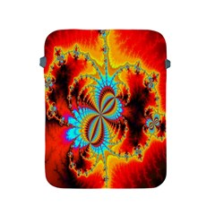 Crazy Mandelbrot Fractal Red Yellow Turquoise Apple Ipad 2/3/4 Protective Soft Cases by EDDArt