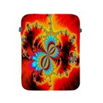 Crazy Mandelbrot Fractal Red Yellow Turquoise Apple iPad 2/3/4 Protective Soft Cases Front