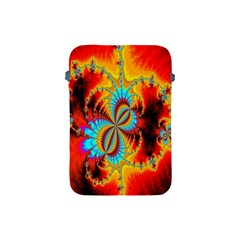 Crazy Mandelbrot Fractal Red Yellow Turquoise Apple Ipad Mini Protective Soft Cases