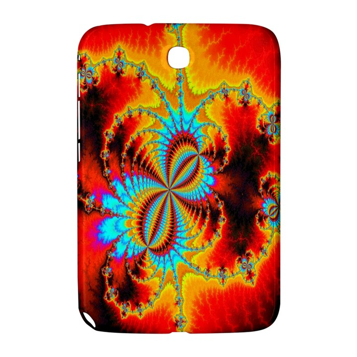 Crazy Mandelbrot Fractal Red Yellow Turquoise Samsung Galaxy Note 8.0 N5100 Hardshell Case