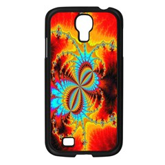Crazy Mandelbrot Fractal Red Yellow Turquoise Samsung Galaxy S4 I9500/ I9505 Case (black) by EDDArt