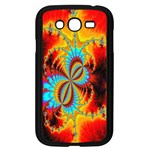 Crazy Mandelbrot Fractal Red Yellow Turquoise Samsung Galaxy Grand DUOS I9082 Case (Black) Front