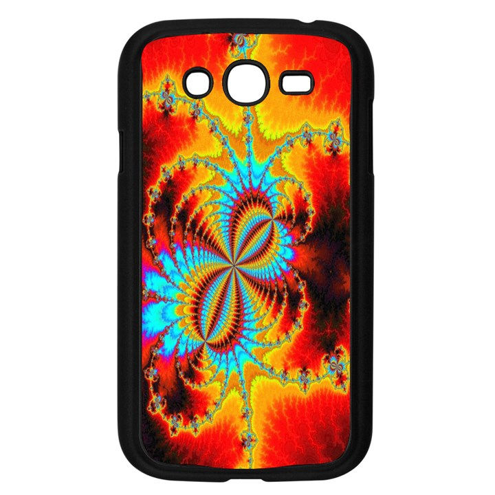 Crazy Mandelbrot Fractal Red Yellow Turquoise Samsung Galaxy Grand DUOS I9082 Case (Black)