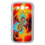 Crazy Mandelbrot Fractal Red Yellow Turquoise Samsung Galaxy Grand DUOS I9082 Case (White) Front