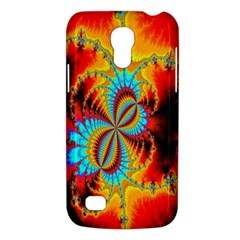 Crazy Mandelbrot Fractal Red Yellow Turquoise Galaxy S4 Mini by EDDArt
