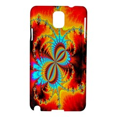 Crazy Mandelbrot Fractal Red Yellow Turquoise Samsung Galaxy Note 3 N9005 Hardshell Case by EDDArt