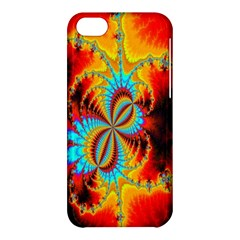 Crazy Mandelbrot Fractal Red Yellow Turquoise Apple Iphone 5c Hardshell Case by EDDArt
