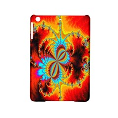 Crazy Mandelbrot Fractal Red Yellow Turquoise Ipad Mini 2 Hardshell Cases by EDDArt