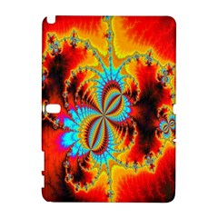 Crazy Mandelbrot Fractal Red Yellow Turquoise Samsung Galaxy Note 10 1 (p600) Hardshell Case by EDDArt