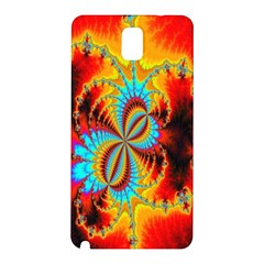 Crazy Mandelbrot Fractal Red Yellow Turquoise Samsung Galaxy Note 3 N9005 Hardshell Back Case by EDDArt