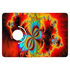 Crazy Mandelbrot Fractal Red Yellow Turquoise Kindle Fire Hdx Flip 360 Case by EDDArt
