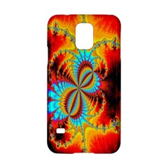 Crazy Mandelbrot Fractal Red Yellow Turquoise Samsung Galaxy S5 Hardshell Case  by EDDArt