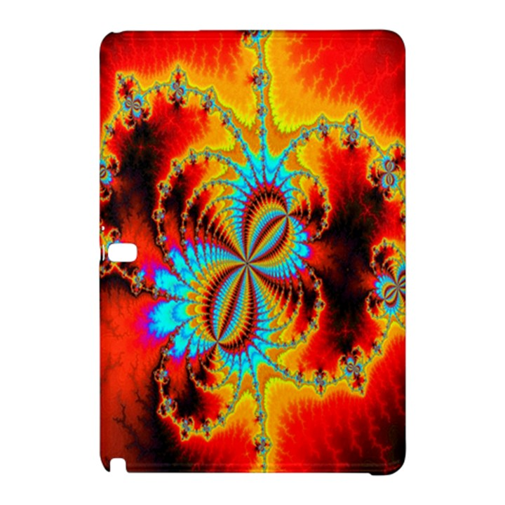 Crazy Mandelbrot Fractal Red Yellow Turquoise Samsung Galaxy Tab Pro 10.1 Hardshell Case